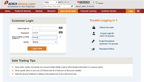 How do I import stock transactions from ICICI Direct in