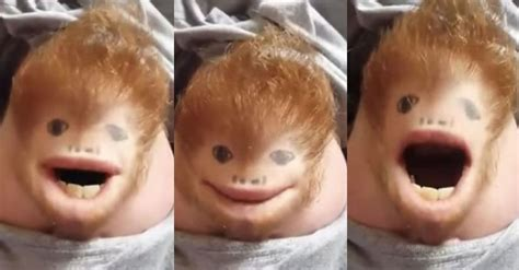 You can't look away from this Ed Sheeran chin puppet named