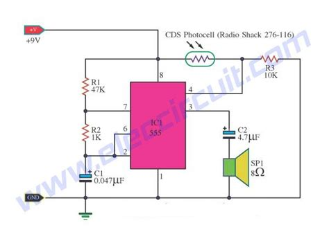 2 Light Detector Circuits using IC-555 and C3140