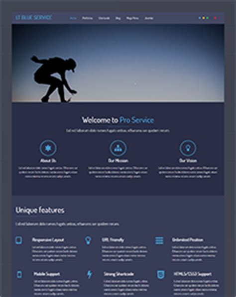 LT Blue Service Onepage – Free One Page Responsive Service