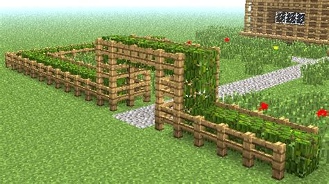 MINECRAFT: How to build wooden fence - YouTube