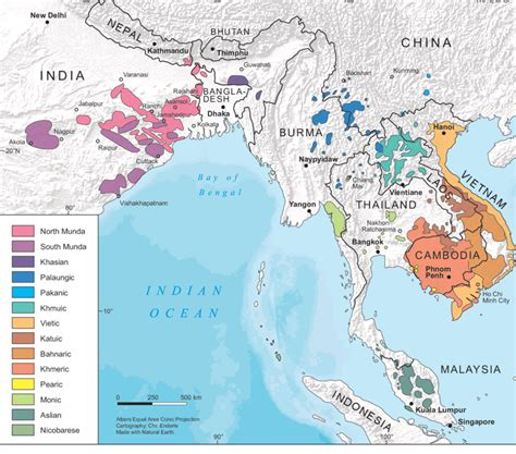 12: Geographical distribution of the Austroasiatic