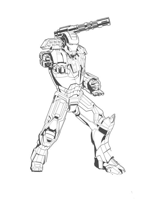 powerful-iron-man-coloring-page - Printable coloring pages