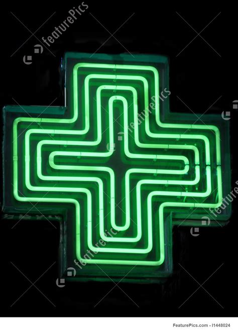Green Pharmacy Sign Stock Image I1448024 at FeaturePics