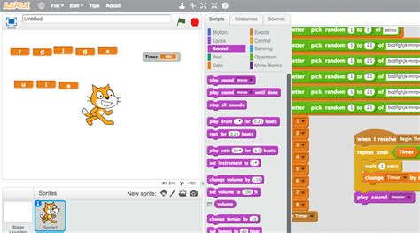 Coding Random Letter Games With Scratch