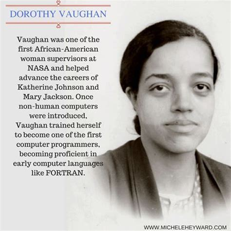 Image result for dorothy vaughan quotes   Vaughan, Hidden