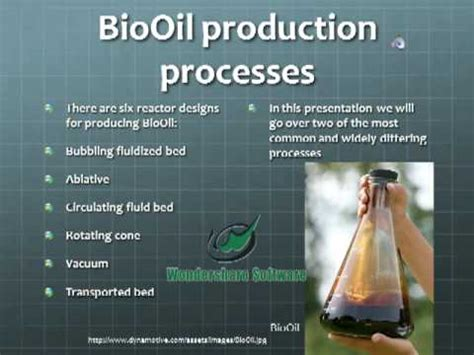 Production of BioOil Using Fast Pyrolysis - YouTube