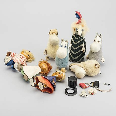 ATELIER FAUNI 8 MOOMIN CHARACTERS FINLAND 1950-60'S
