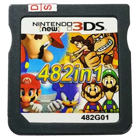 DS Cartridge with 482 Games Play Directly on New 3DS 2DS