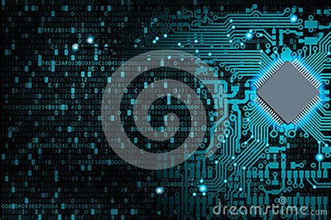 Abstract Background Of Digital Technologies Royalty Free