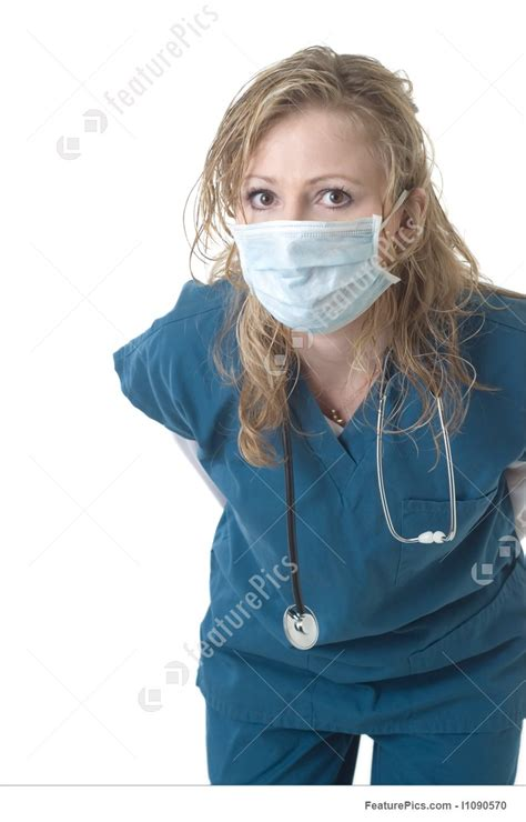 Attractive Nurse Wearing Face Mask Image