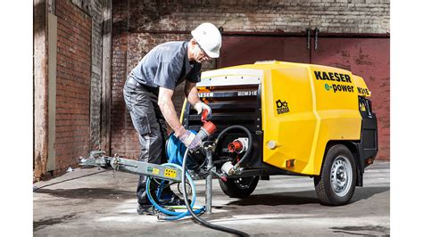 Electric portable compressor range launched - KAESER