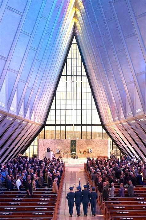 Chapter 28: Interior of the Air Force Academy Chapel in