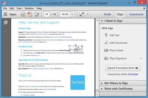 How To Use Adobe Reader To Electronically Sign (E