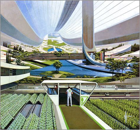 orbiting space colony - Syd Mead   copyright- Syd Mead
