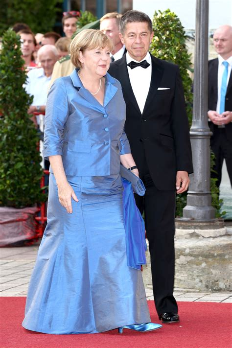 Joachim Sauer in Arrivals at the Bayreuth Festival Opening