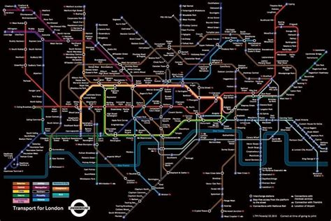 London Underground Map - black Poster | Sold at Europosters