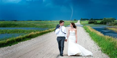 Tornado Touches Down Behind Newlyweds And The Pics Will