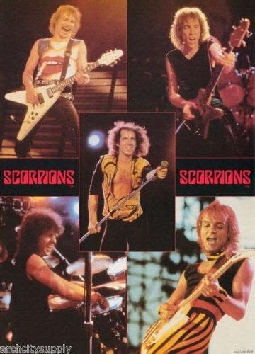 The Scorpions Live Collage 1984 Rare Vintage Poster in