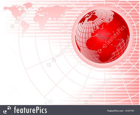 Templates: Red Globe Abstract Business Background - Stock
