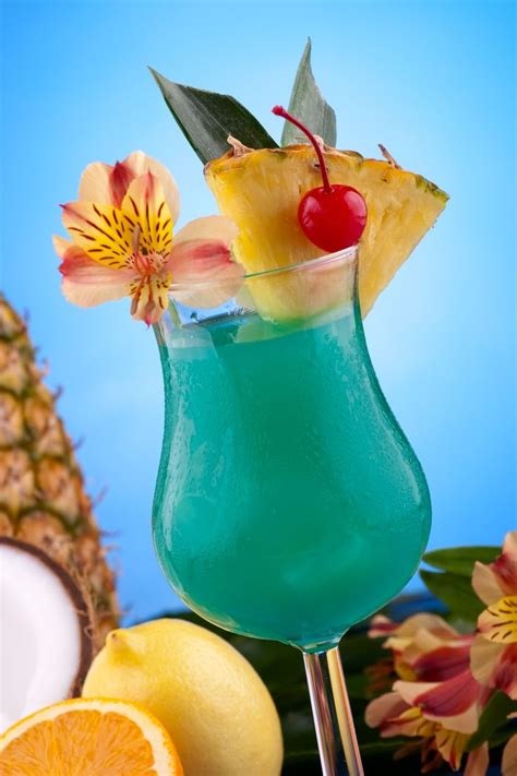 Blue Hawaiian Cocktail recipe made with Light Rum and