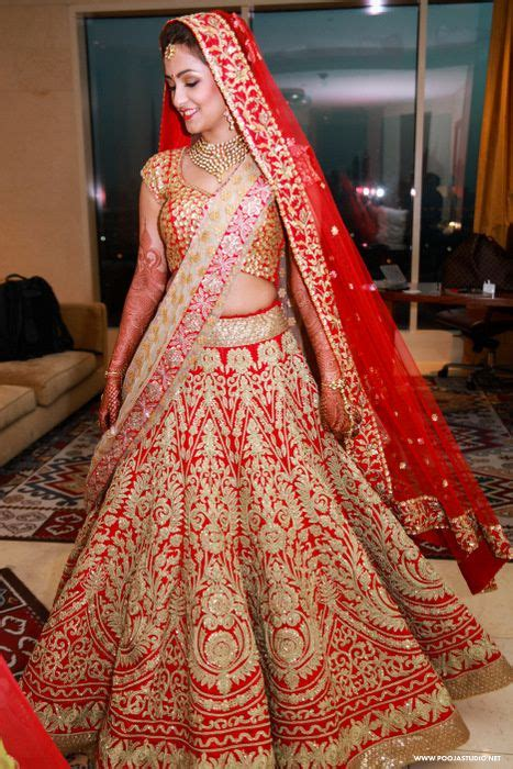 Red all over embrpidered bridal lehenga | Indian wedding