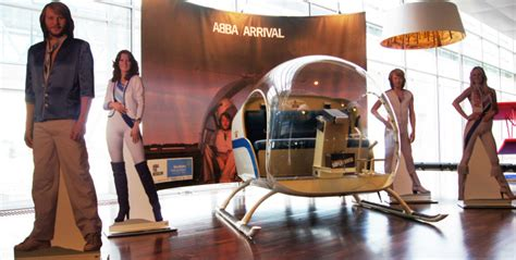 Take a selfie with the ABBA helicopter from the Arrival