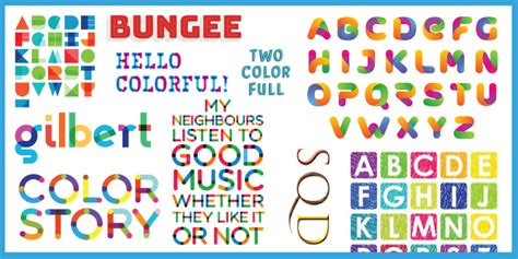 Pre-Colored Fonts Hit The Mainstream Font Repos (Like a