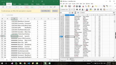 python - Libre office calc and excel showing different