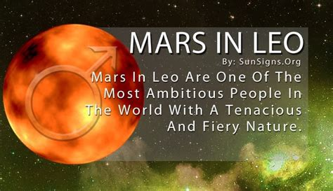 Mars In Leo Sign: Meaning, Significance And Personality