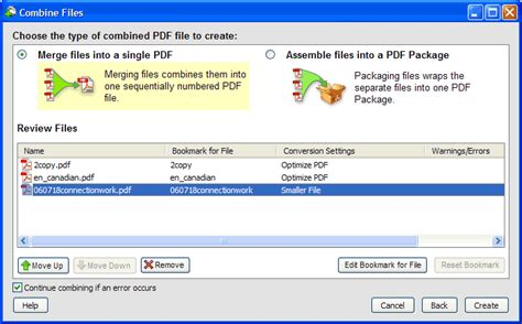 Combine Files, Package, and Optimize PDFs - Acrobat 8
