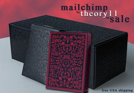 Set of Mailchimp Red & Black Playing cards Deck