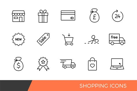Linear Shopping e-commerce Icons ~ Icons on Creative Market