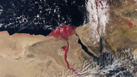 Satellite Images Show A Blood Red River Nile   IFLScience